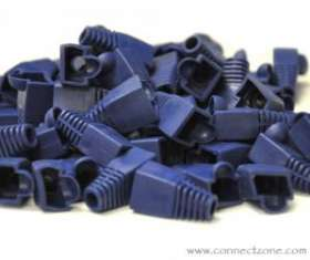 50pack blue RJ45 8P8C snag-less boot for Cat5 & Cat6