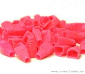 50 pack pink RJ45 8P8C snag-less boot for Cat5 & Cat6