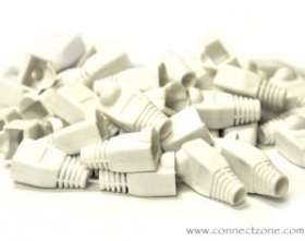 50 Pack White RJ45 8P8C Snag-less Boots for Cat5 & Cat6