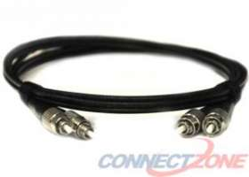 Black singlemode fiber optic cables 9/125 duplex