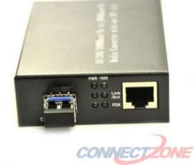 FCM-LC1110 LC Fiber Optic Media Gigabit Converter