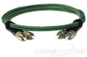 Green singlemode fiber optic cables 9/125 duplex