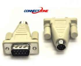 PS2 Adapter Computer Mouse MD6M Mini 6 Din Male to Serial Port DB9 Male Male