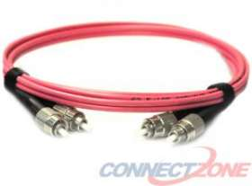 Pink singlemode fiber optic cables 9/125 duplex