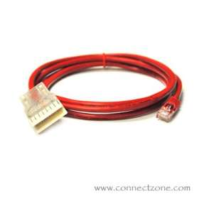 12 foot Red Cat5e patch cord RJ45 plug - 110 connector