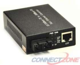 FCS-SC110-20KM SC-RJ45 Media Converter SM 10/100