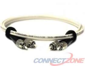 White singlemode fiber optic cables 9/125 duplex