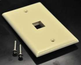 Ivory Color 1 Port Position Economical Plastic Wall Face Plate