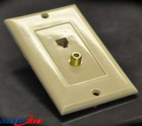 Ivory Color Economical Plastic Wall Face Plate