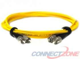 Yellow singlemode fiber optic cables 9/125 duplex